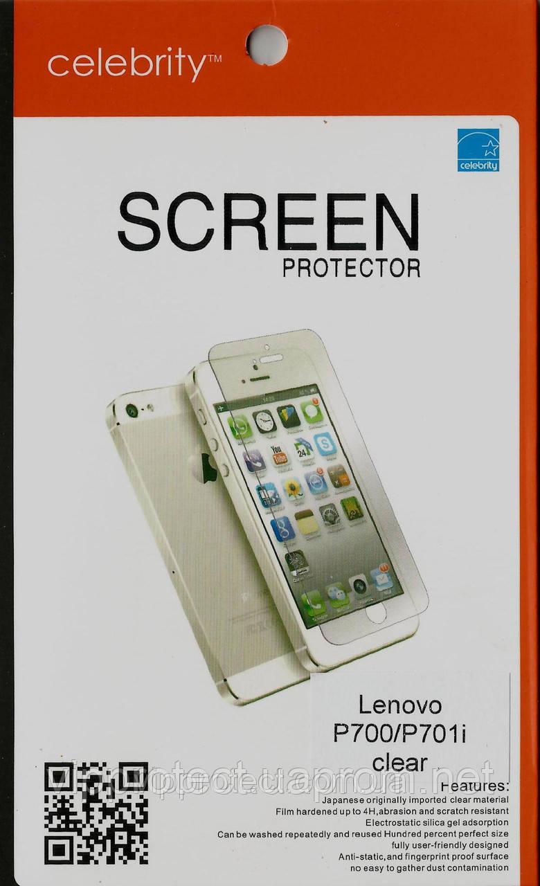 Lenovo P700, глянцева захисна плівка на телефон