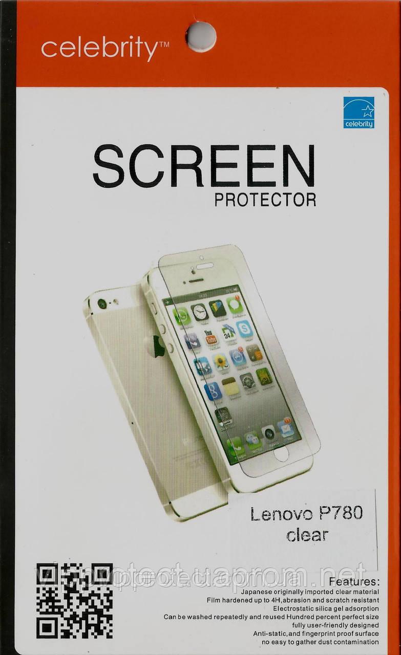 Lenovo P780, глянцевая защитная пленка на телефон