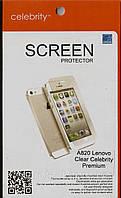 Lenovo A820 Premium глянцевая защитная пленка на телефон