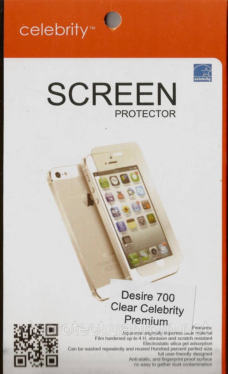 HTC Desire_700, глянцева плівка Dual Premium