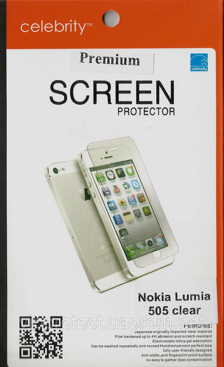 Nokia 505, глянцевая пленка Lumia