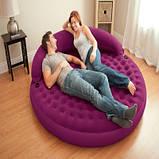 Intex 68881 Надувная кровать круглая, фото 3