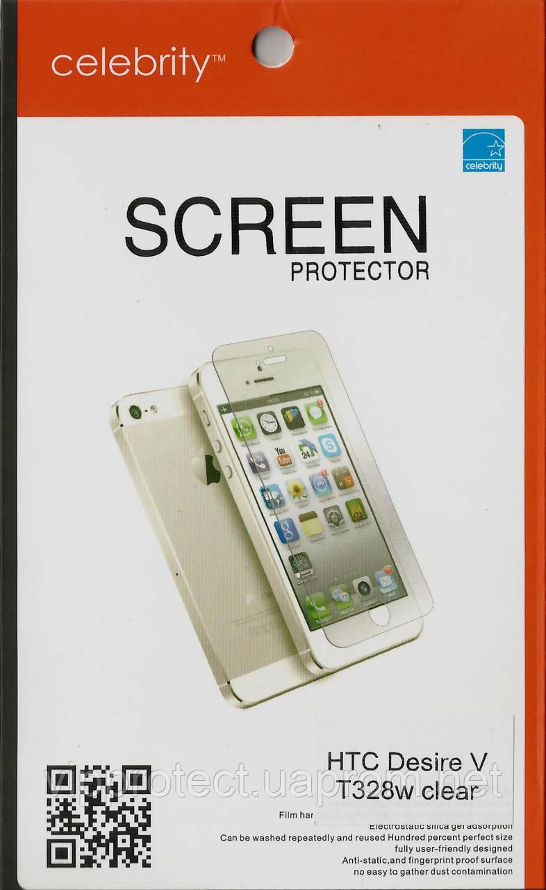 HTC Desire_V T328, глянцевая пленка Desire X