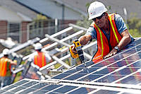 Установка солнечных батареи, монтаж, фотомодули, электростанция