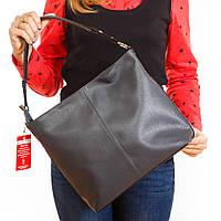 Серый классический шоппер сумка на плечо