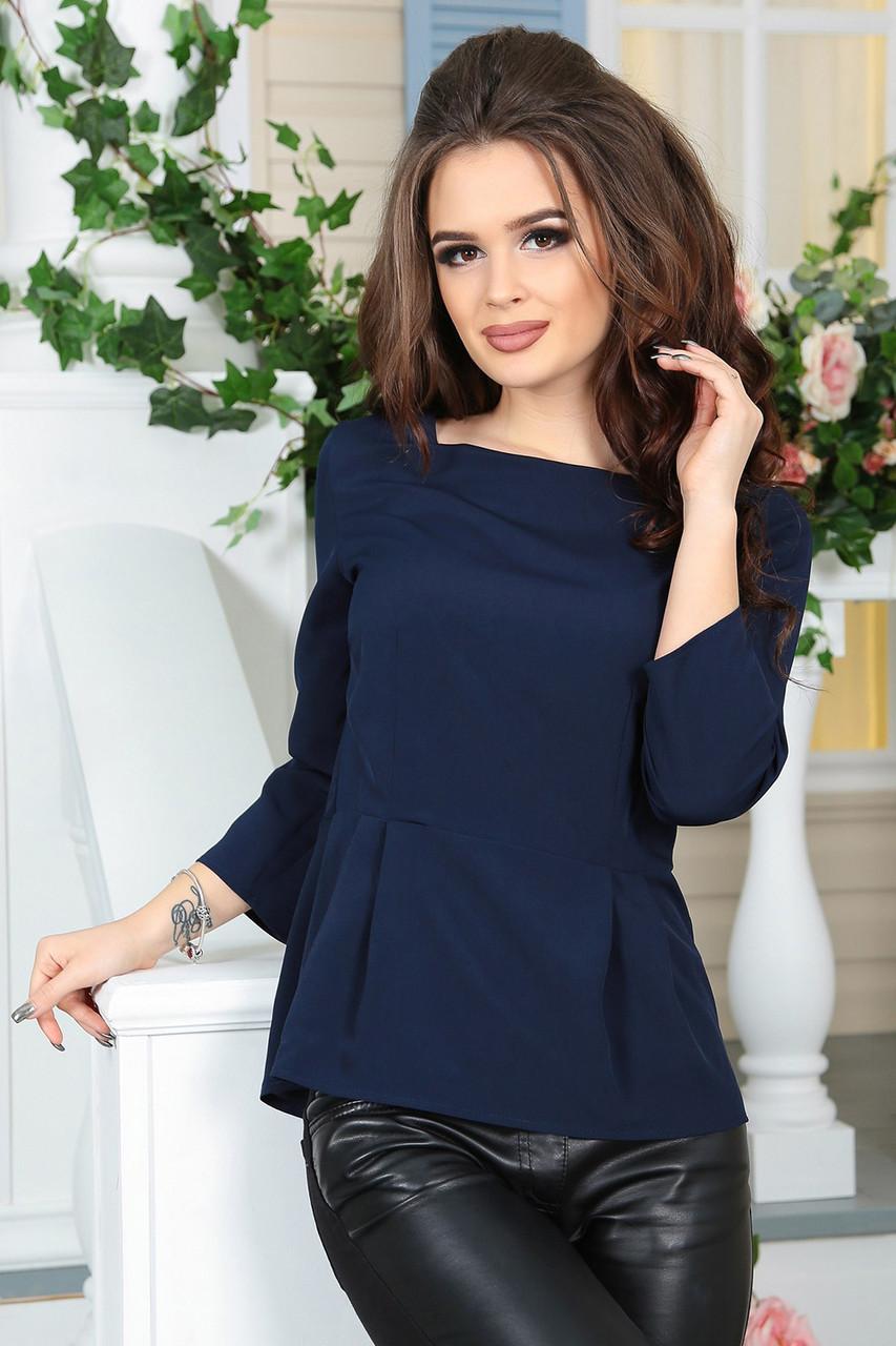 Блузка летняя Арин темно-синяя