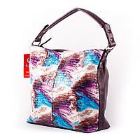 Сиреневая сумка шоппер цветной женский мешок
