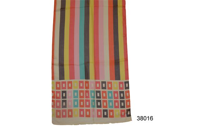 Женский желтый легкий шифоновый шарф 2