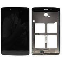 Дисплей (экран) для планшета LG V400 G Pad 7.0 + с сенсором (тачскрином) черный Оригинал