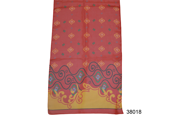 Женский красный легкий шифоновый шарф 2