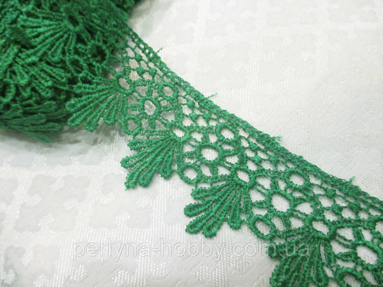 Мереживо макраме зелене 4 см