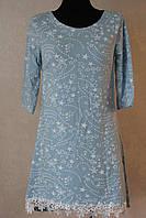Платье звездочки с кружевом