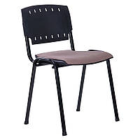 Стул Призма спинка пластик /черный лак/сиденье ткань А-46