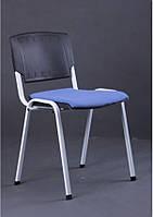 Стул Призма спинка пластик /белый лак/сиденье ткань А-84