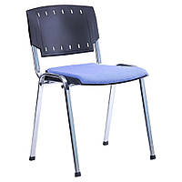 Стул Призма спинка пластик /хром/сиденье ткань А-84