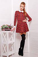 Короткое женское платье в клетку с заниженной талией сукня Элис д/р