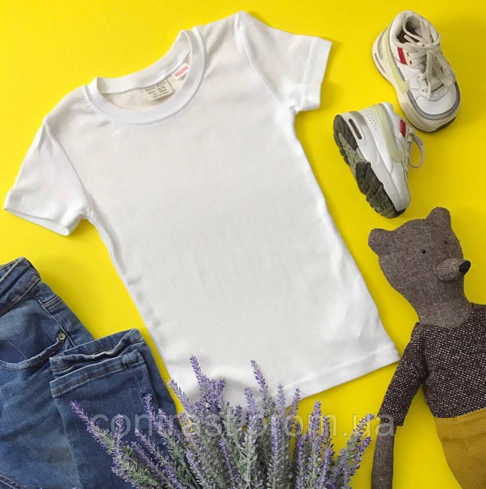Повседневная детская футболка с унисекс дизайном из натурального хлопка  ZARA
