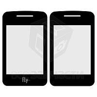 Стекло корпуса для мобильного телефона Fly EZZY Trendy, original, черное, внутреннее, #3.06.BK112.0XZE
