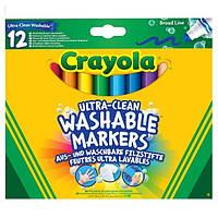Широкие смываемые фломастеры Crayola Супер чисто 12 шт с толстым наконечником