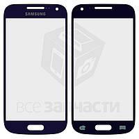 Стекло корпуса для мобильных телефонов Samsung I9190 Galaxy S4 mini, I9192 Galaxy S4 Mini Duos, I9195 Galaxy S4 mini, синее