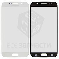 Стекло корпуса для мобильного телефона Samsung G920F Galaxy S6, 2.5D, белое