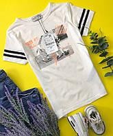 Стильная футболка для мальчика с принтом в спортивной стилистике  ZARA