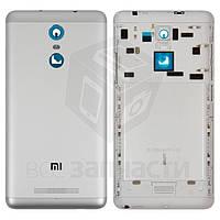 Задняя крышка батареи для мобильного телефона Xiaomi Redmi Note 3, серебристая, белая, original (PRC), с боковыми кнопками