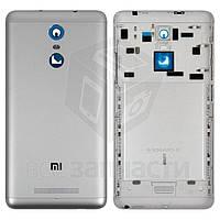 Задняя крышка батареи для мобильного телефона Xiaomi Redmi Note 3, серебристая, черная, original (PRC), с боковыми кнопками