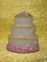 Свеча Свадебный торт (цвет ассорти)