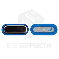Пластик кнопки меню для мобильных телефонов Samsung J500F/DS Galaxy J5, J500H/DS Galaxy J5, J500M/DS Galaxy J5, черный