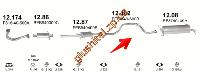 Трубка средняя Мазда 626 (Mazda 626) 2,0i GT-16V 87-91 , 2,0-12V 88-90 (12.182) Polmostrow алюминизированный
