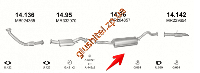 Глушитель Митсубиси Паджеро (Mitsubishi Pajero) (14.96) 2.8 TDi LWB 94-00 Polmostrow алюминизированный