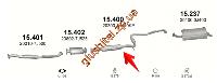 Резонатор Ниссан Примера (Nissan Primera) 2.0i -16V 96-02 (15.400) Polmostrow алюминизированный