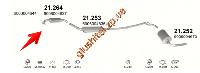 Резонатор Рено Трафик (Renault Trafic) 2.1D 94-97 (21.264) Polmostrow алюминизированный