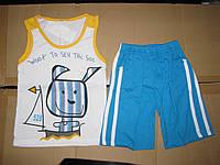 Летний костюм шорты и майка для мальчика 1-3 года