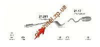 Резонатор Рено Лагуна (Renault Laguna) 2.2D 94-01 (21.281) Polmostrow алюминизированный