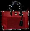 Прямоугольная женская сумка из искусственной кожи красного цвета NNQ-000655