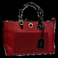 Прямоугольная женская сумка из искусственной кожи красного цвета NNQ-000655, фото 1