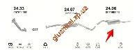 Глушитель Шкода Фаворит (Skoda Favorit) 1.3; 1.3i   89-96 Forman (24.06) Polmostrow алюминизированный