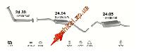 Резонатор Шкода Фаворит (Skoda Favorit) 1.3  89-96 / Шкода Фелиция (Skoda Felicia) 94- (24.04) Polmostrow алюминизированный