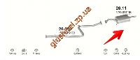 Глушитель Тойота Королла (Toyota Corolla) (26.11) 1.3i kat  87-92 Polmostrow алюминизированный