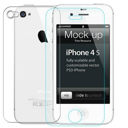 Защитное стекло iPhone 4/4s Back (Mocolo 0.33 mm), фото 2