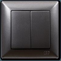 Gunsan Visage Дымчатый Выключатель 2-х клавишный