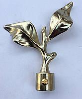 Лист розы д.16мм золото