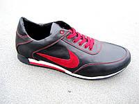 Мужские кожаные кроссовки большие размеры Nike  46-49 р-р, фото 1