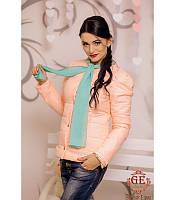 Женская куртка с шарфом, разные цвета