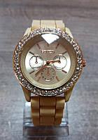 Часы женские Geneva Fashion cappuccino (темно-бежевый)