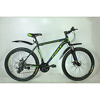 Велосипед горный Fort  Discovery 26 » Alioy черно-зелено-синий (матовый)  MD NEW