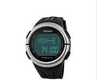 Часы наручные пульсометр спортивный секундомер для бега водонепроницаемый SKMEI