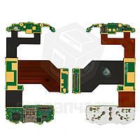 Шлейф для мобильных телефонов HTC P4550, TYTN II, межплатный, с верхним клавиатурным модулем, с компонентами